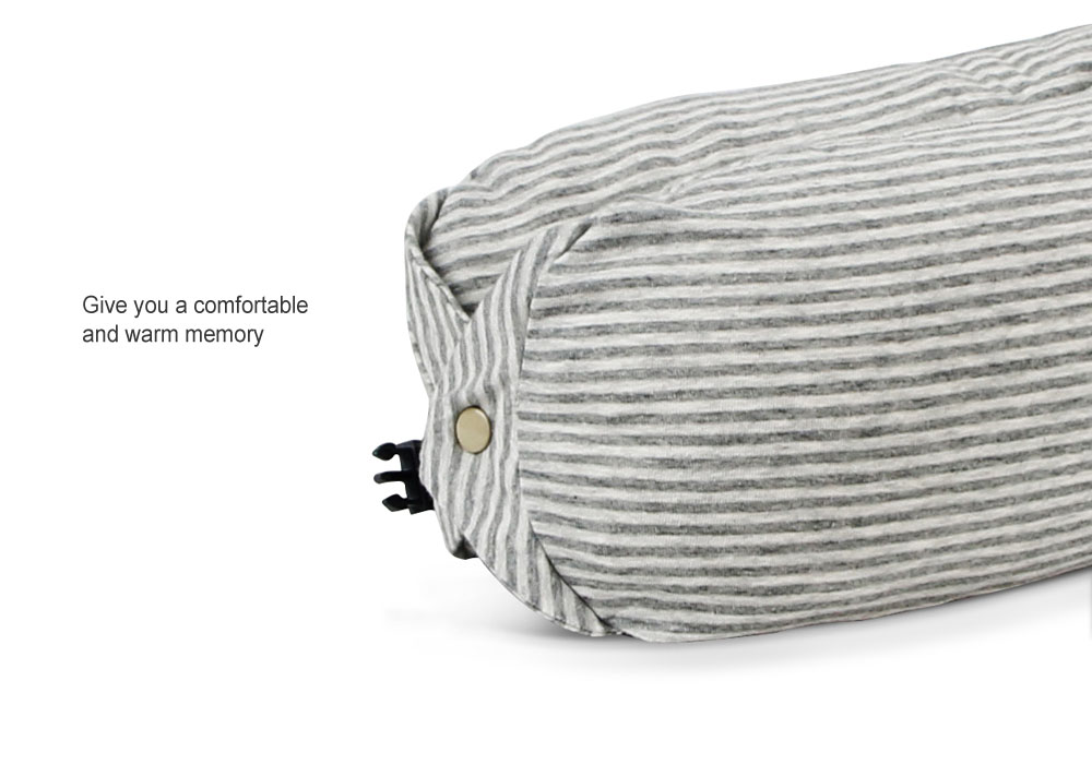 MEIZU Multi-functional Microparticles Protect Travel Neck Pillow U-shaped with Buckle Soft Pillow