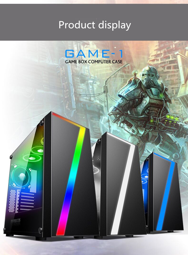Pccooler GAME-1 485*490*225mm Desktop Gaming Water Cooling Computer Case With HDD SSD Stent