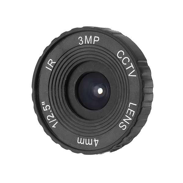 3MP HD 4mm CCTV IR Lens for HD IP Cameras M12 Mount F1.2 Aperture 1/2.5