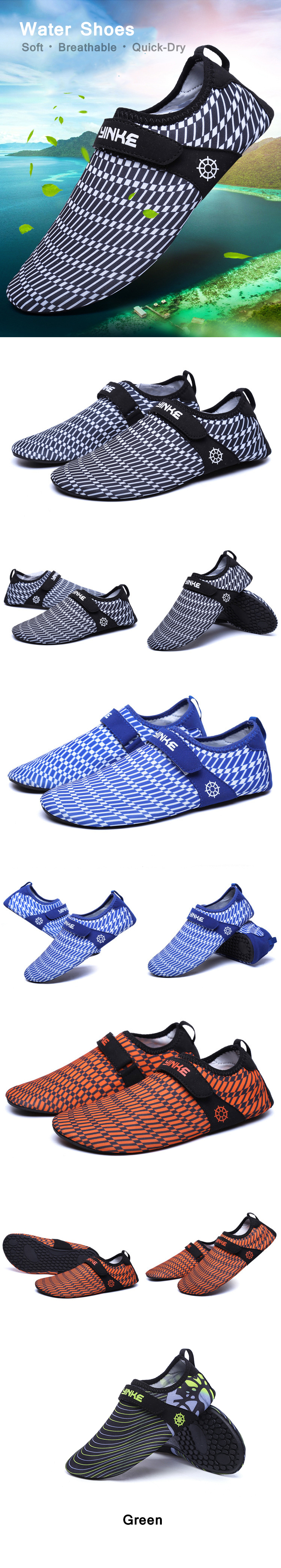 0069bc1d91eb men quick-dry breathable swim snorkeling beach shoes barefoot slip ...