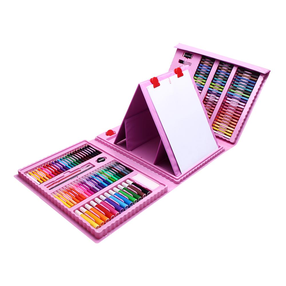 208 Pcs Colors Pencil Artist Drawing Pen Set Sketch Pas