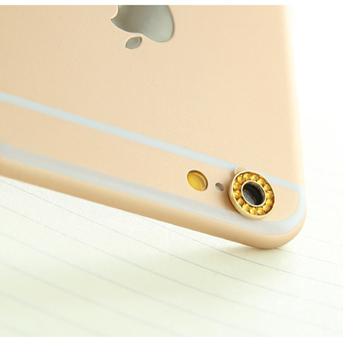Crystal Back Camera Metal Lens Protective Ring Circle Cover For iPhone 6 6S