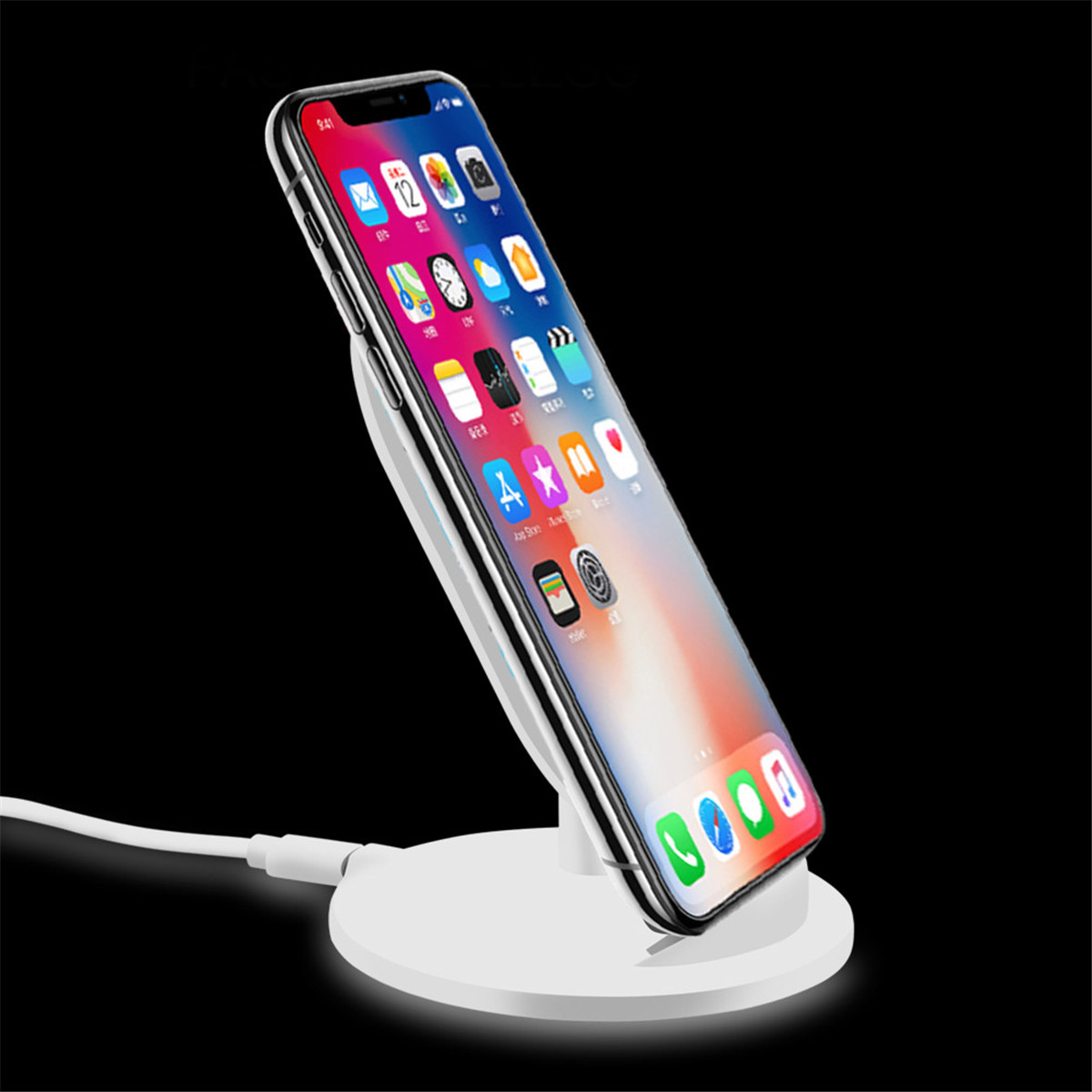 Qi Wireless Charger Charging Stand Dock Holder For iPhone 8/X Plus Samsung Note 8