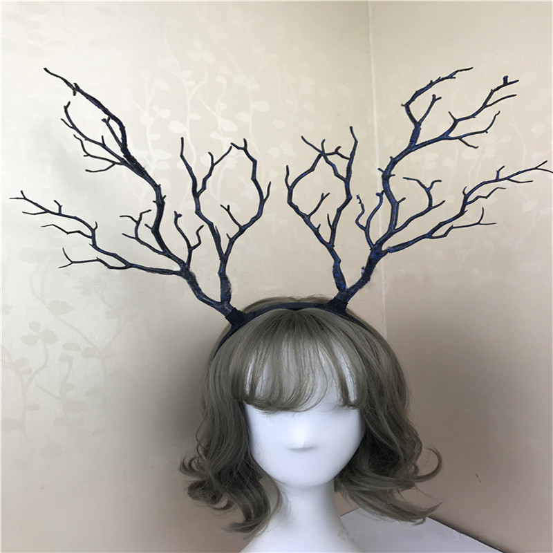 Giant Luxury Christmas Adult Elk Reindeer Antlers Headband Props Decoration