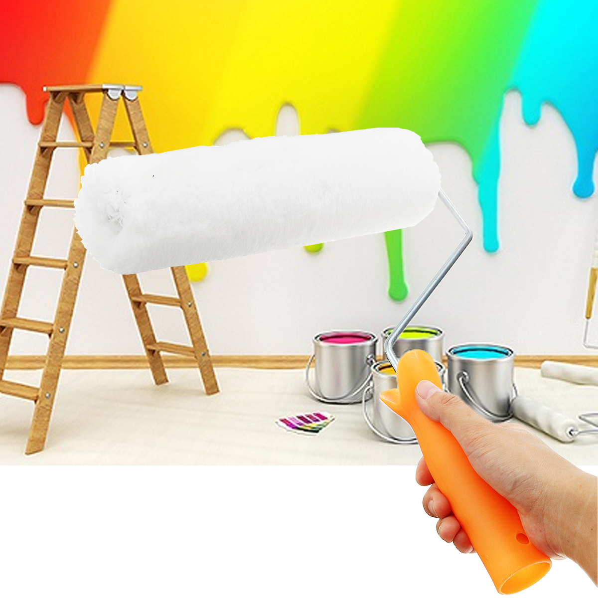 9 Inch Embossing Paint Roller Painting Brush Wall Decor Home Decoration Tool