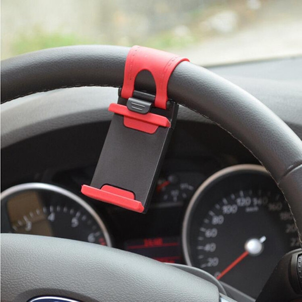 Universal Car Steel Ring Wheel Phone GPS Holder Bike Handlebar Clip Mount Bracket