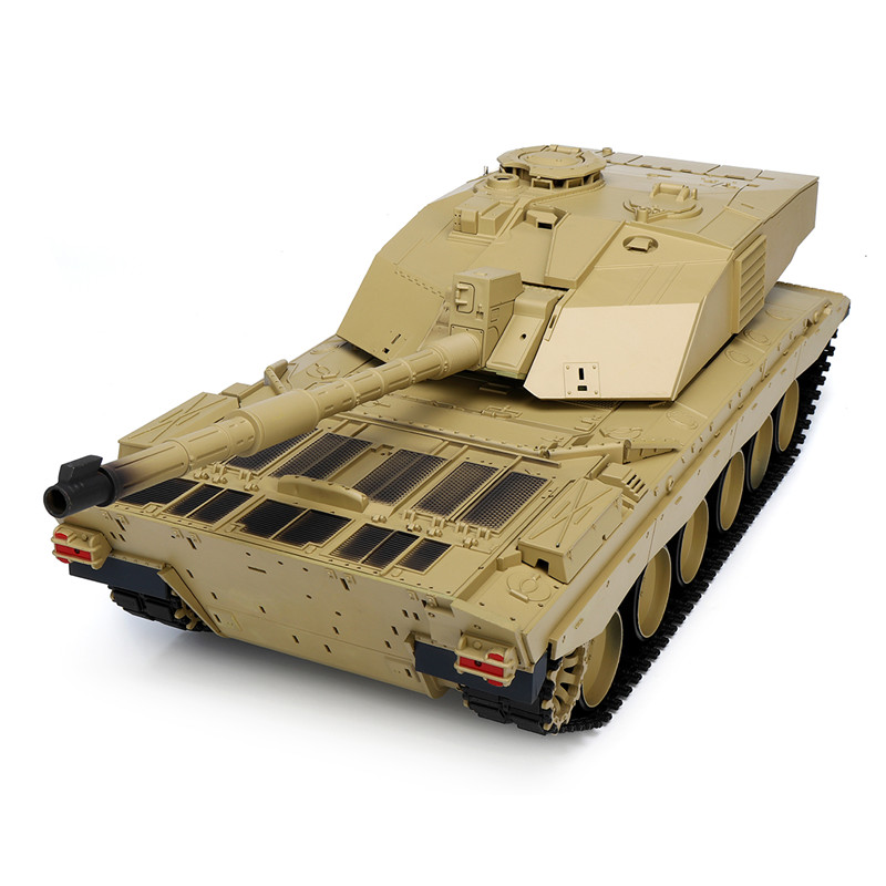 Heng Long 3908-1 1/16 2.4G Smoking British Challenger 2II RC Car Battle Tank Plastic Model Toys