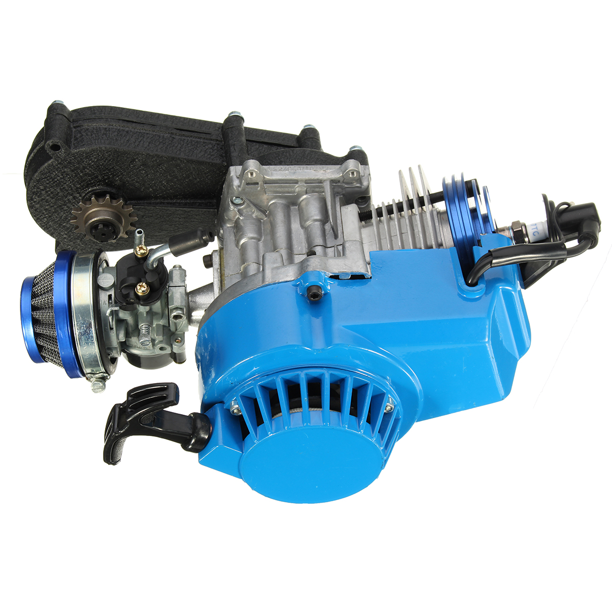 49CC 2 Stroke Engine Motor W/ CARB Air Filter Gear Box Mini Dirt Bike Quad ATV