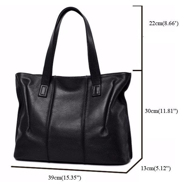 Women PU Leather Tote Handbags Simple Shoulder Bags