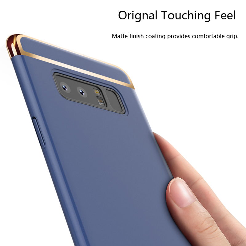 Bakeey 3 In 1 Combo Electroplating PC Case For Samsung Galaxy Note 8