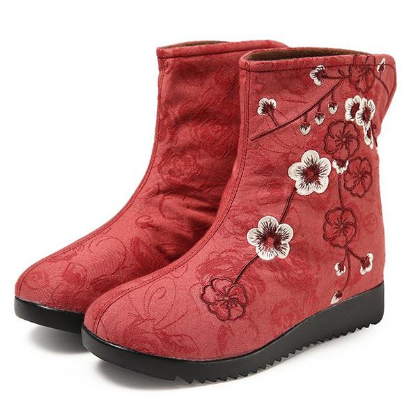 Вышитый мех Ботинки Обувь для ботинок верхней верхней подкладки для Женское