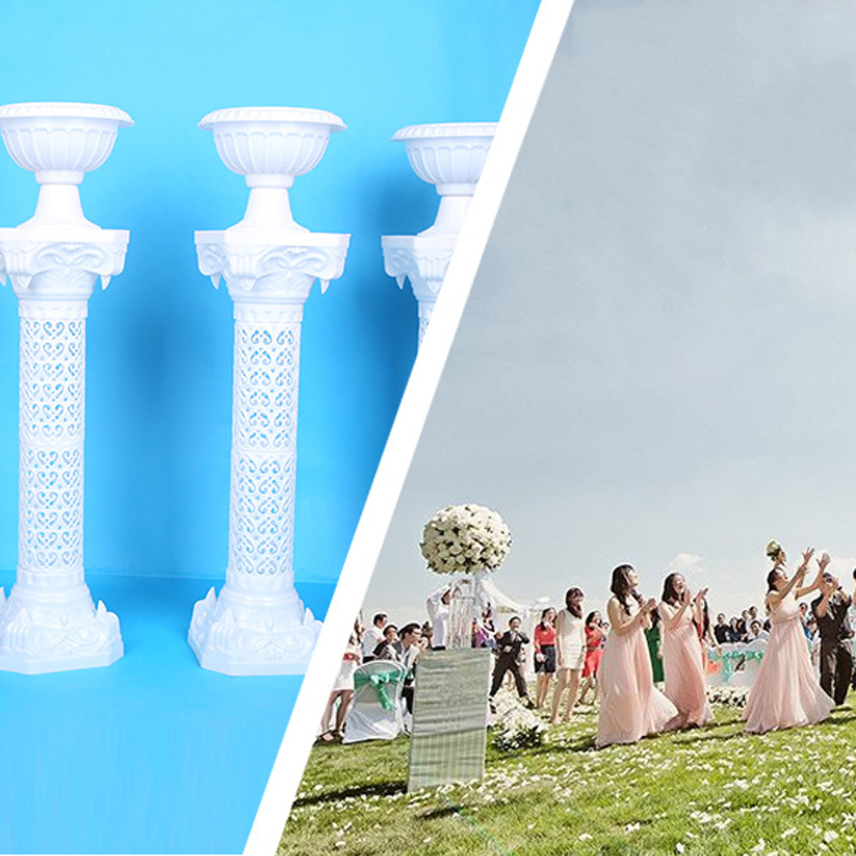 88CM Roman Pillars Column Pedestal Photography Props Plastic Wedding Party Decor Supplies