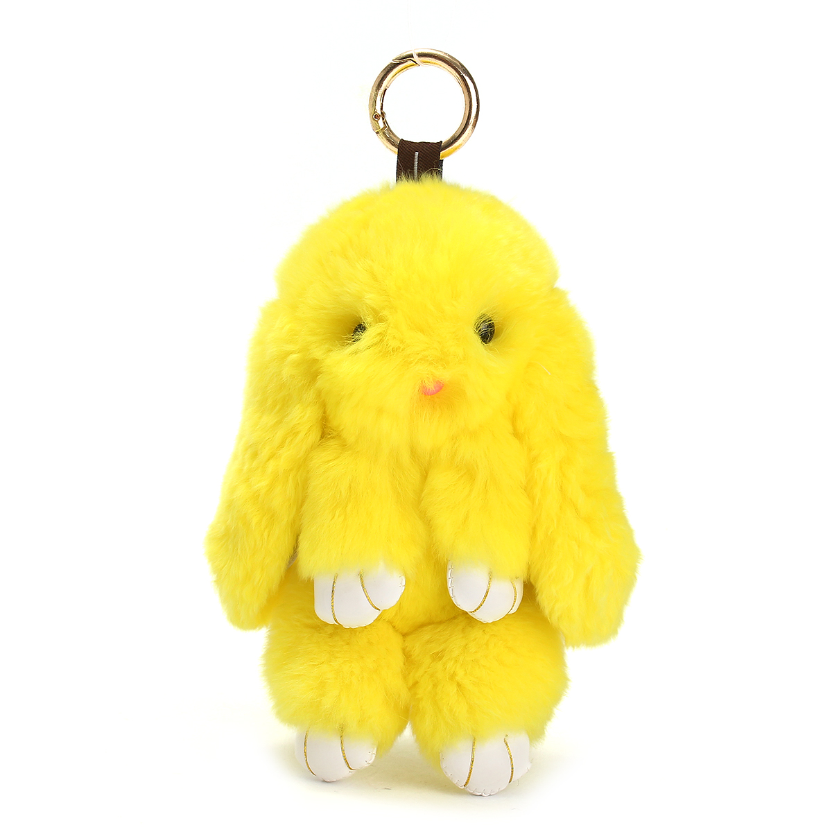 130mm Faux Rabbit Fur Keychain Bunny Ball Doll Key Ring Charm Handbag Pendant