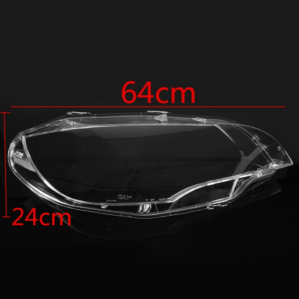 Car Headlight Shell Lamp Cover Lampshade Plastic Clear Lens Pair for BMW E70 2008-2012