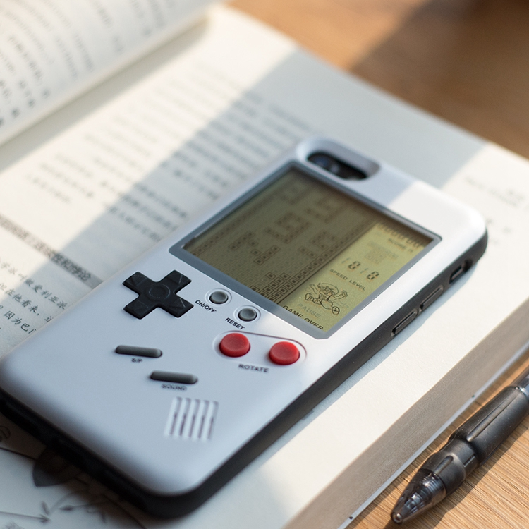 Bakeey Retro Tetris Game Cover Gameboy Case for iPhone 7/8
