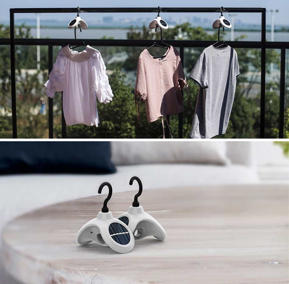 Home Multifunctional Waterproof Solar Power Automatic 360 Degree Rotation Hanger Smart Clothes Holder