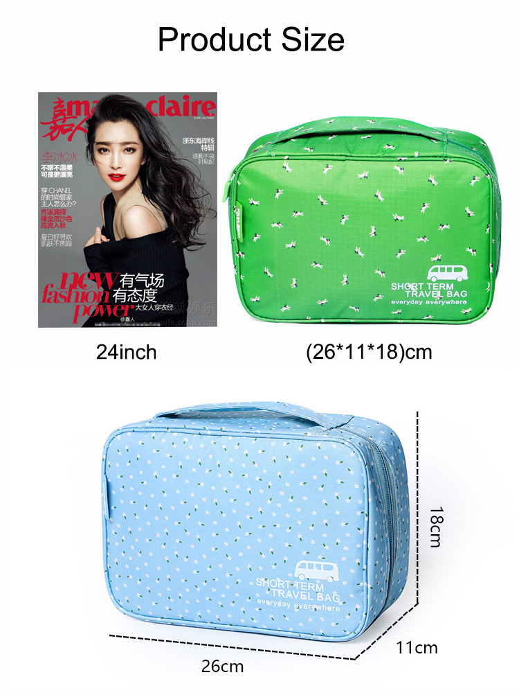 Honana HN-CB10 Waterproof Women Cosmetic Bag Makeup Organizer Pouch Hanging Toiletry Storage Bags