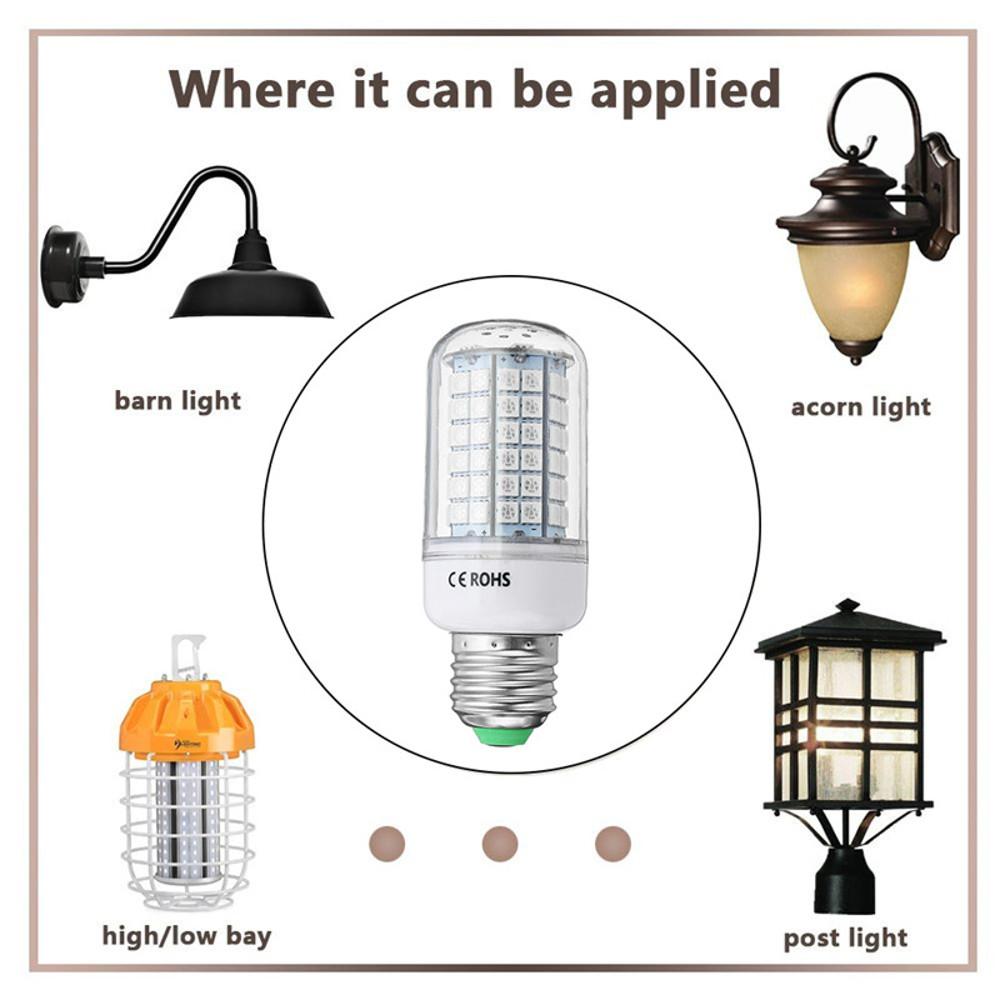 9W E27 B22 E14 5050 SMD Non-dimmable LED Corn Light Bulb Spot Lamp Red Green Blue AC110V