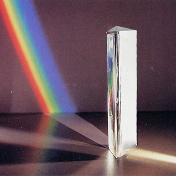 15cm Optical Glass Crystal Triple Triangular Prism Photography Physics Teaching Light Spectrum