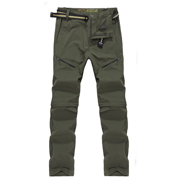 Summer Outdoor Hiking Pants Quick Drying Breathable Trousers Lovers Removable Thin Pants