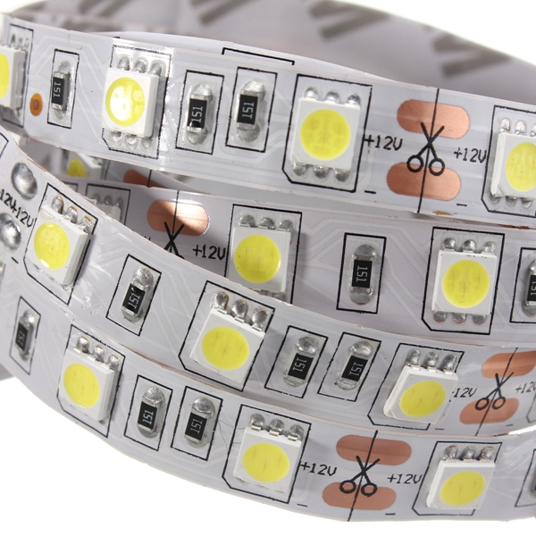 2M DC12V 28.8W 120 SMD 5050 Non-waterproof Red/Blue/Green/White/Warm White/RGB Flexible LED Strip