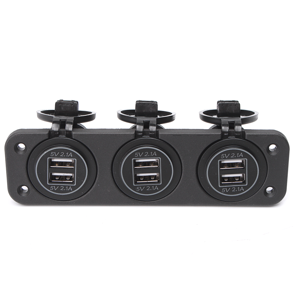 12~24V 2.1A Car 6 Ports USB Socket Outlet Splitter Power Supply Charger Adapter