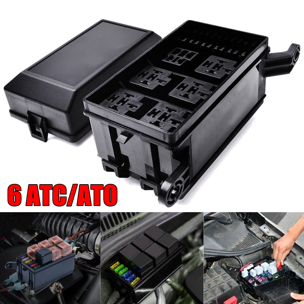 Fantastic Universal Auto Car Fuse 6 Relay Socket Holder Insurance Box 6 Atc Wiring 101 Tzicihahutechinfo