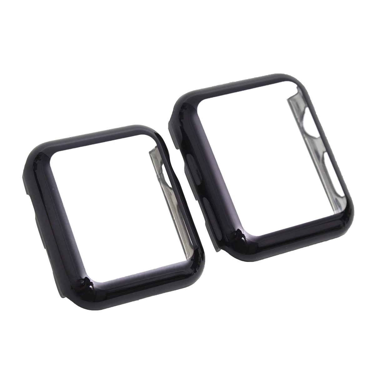 Black Plating PC Screen Protector Case for Apple Watch iWatch Series 2/1 38mm 42mm