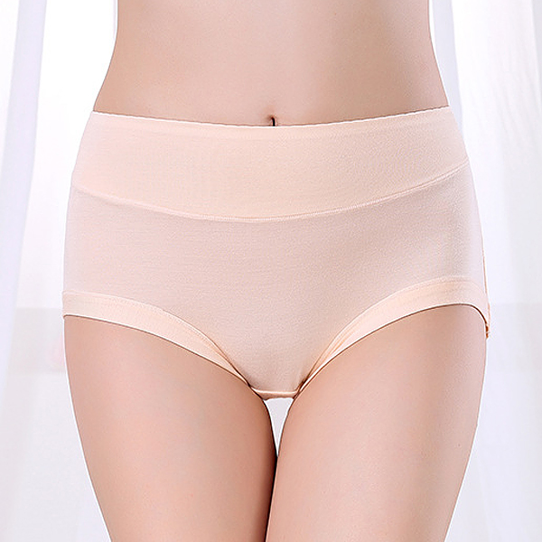 Super Elastic Bamboo Fiber High Waist Comfort Briefs Panties