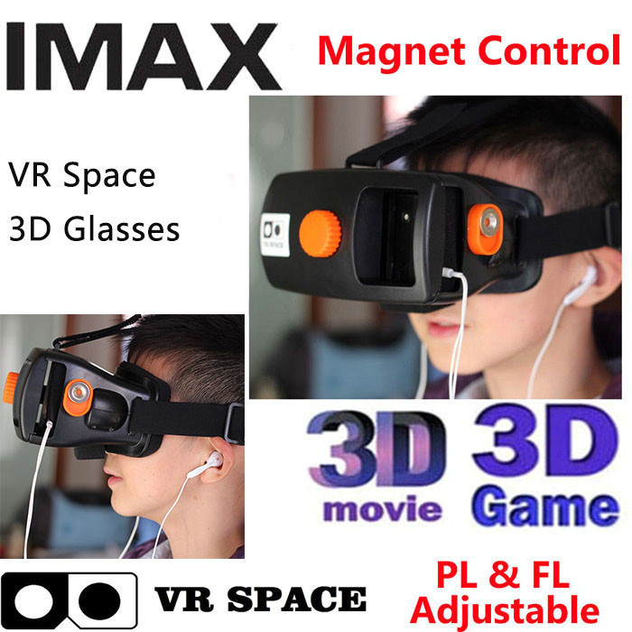 VR Space Plastic Virtual Reality Magnet 3D Glasses Google Cardboard Oculus Rift for Smartphone