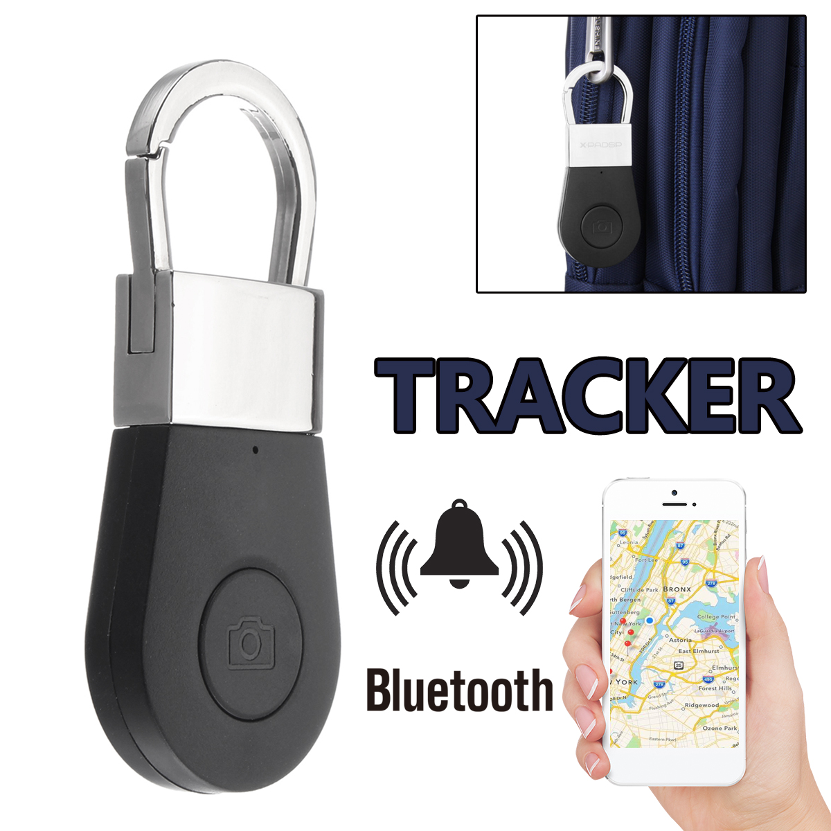 bluetooth Keychain Tracker Finder Locator Anti Lost GPS Alarm Child Pet Tracking