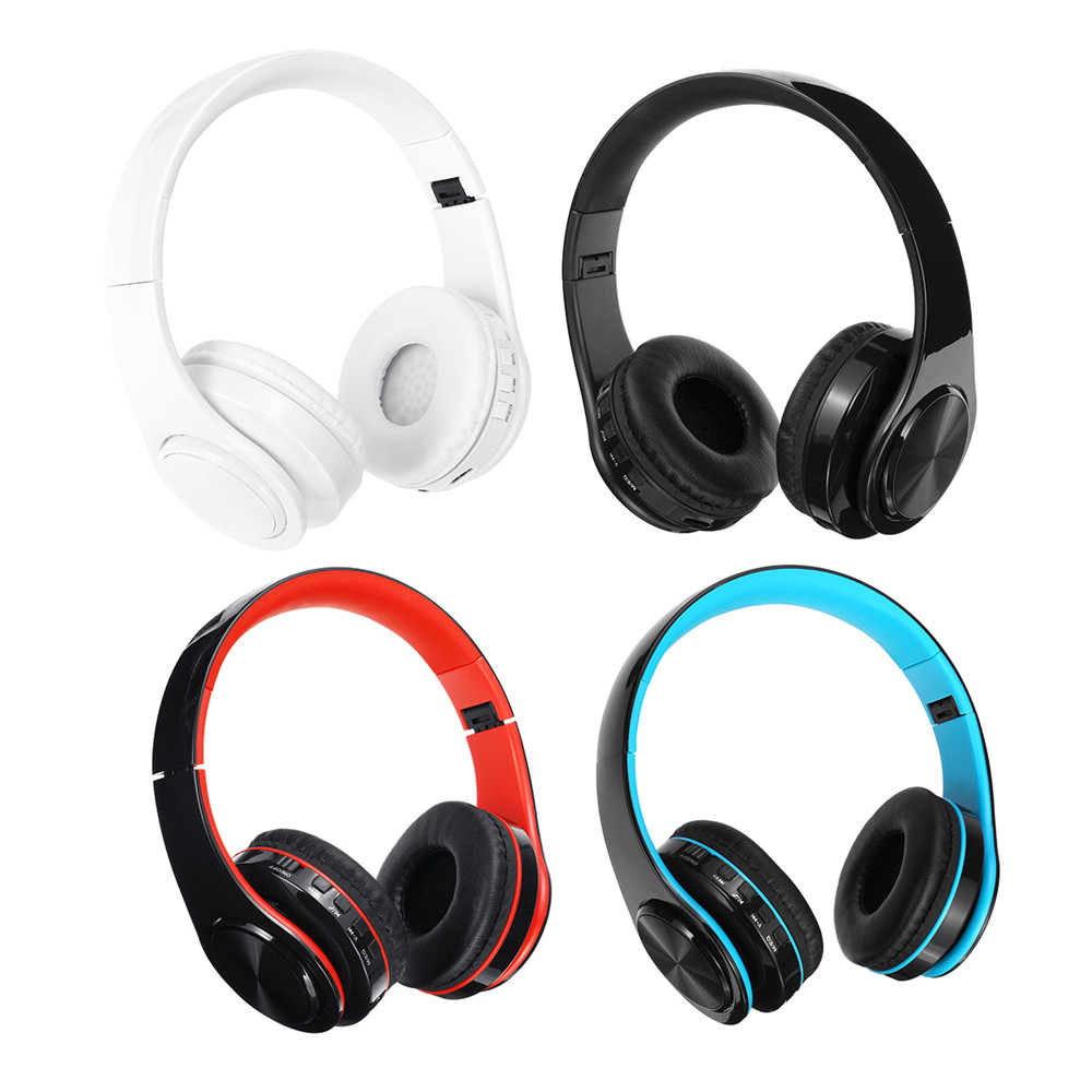 bluetooth 5.0 Wireless Headset Earphone Headphone Support TF Card FM Radio For Tablet Cellphone