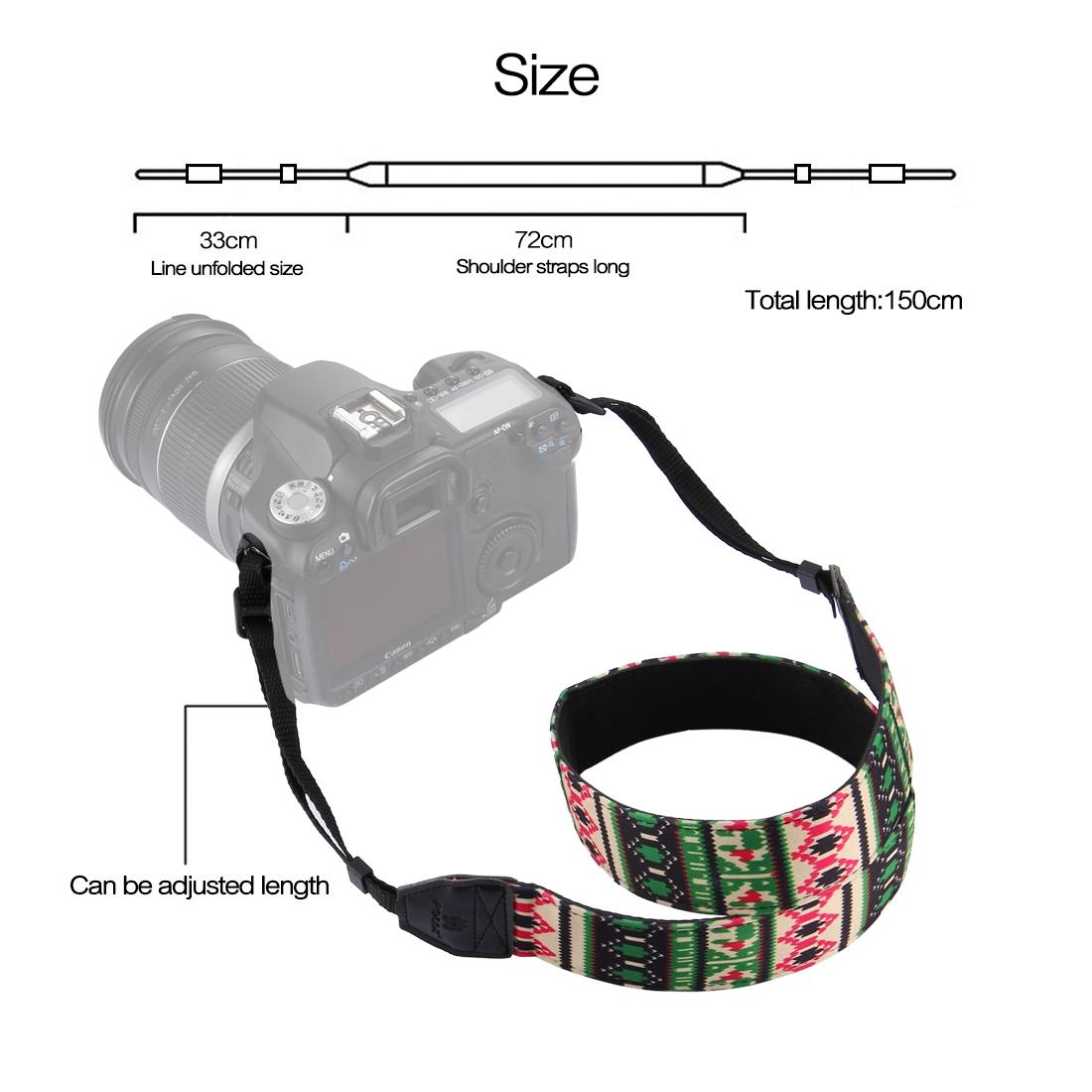 PULUZ PU6007C Retro Ethnic Style Multi-color Series Shoulder Neck Strap Camera Strap for SLR DSLR