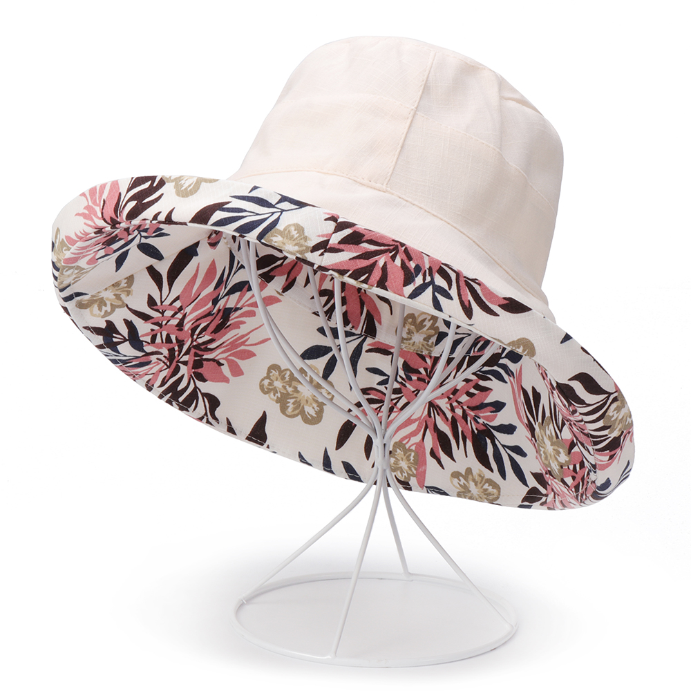 Men Women Printting Bucket Hat Folding Sun Fishing Cap
