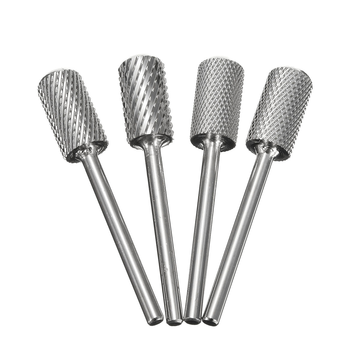 4pcs Nail Art Drill Bits Tungsten Carbide Steel Polish Electric Machine Smooth File