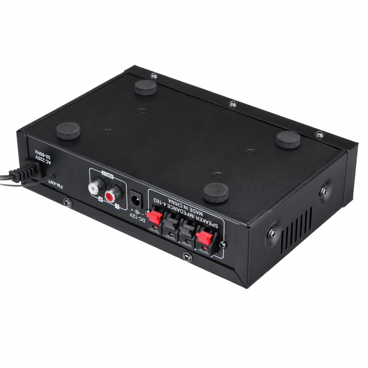 12V/220V 2CH HIFI Audio Stereo Power Amplifier Bass bluetooth FM Radio Car Home