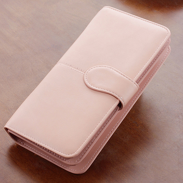 Women Hasp Long Wallet Two Fold Purse Card Holder Coin Bags 5.5'' Phone Clutches Bags