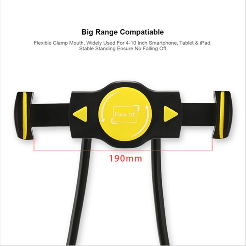 REMAX RM-C27 Flexible Neck Hanging Holder Lazy Holder Phone Stand for under 10 inches Phone Tablet