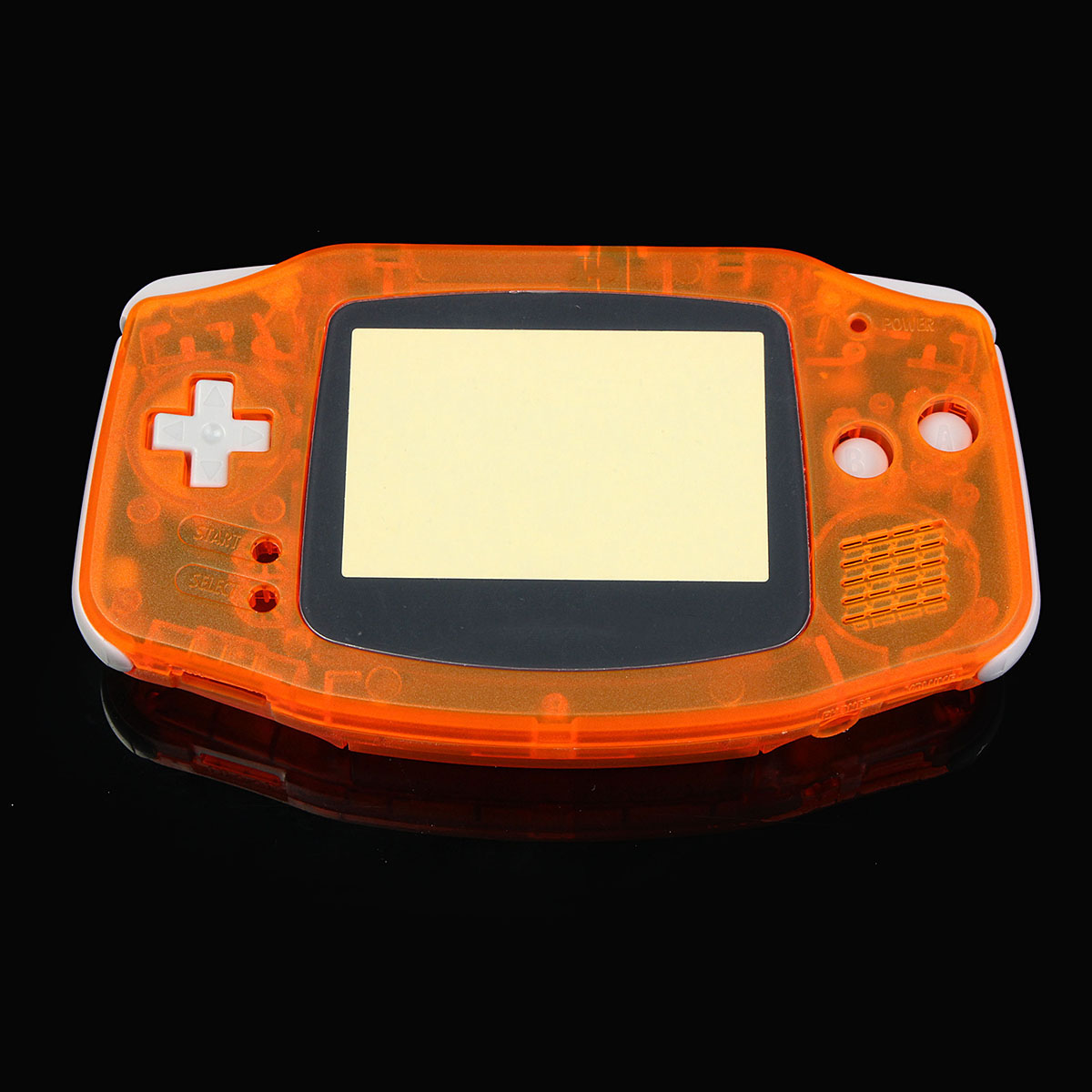 Transparent Orange Shell Housing Case Cover For Nintendo Game Boy Advance GBA