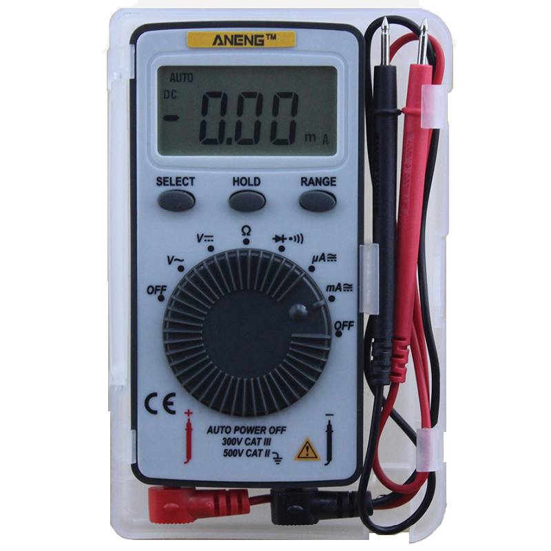 Image of ANENG AN101 Pocket Digital Auto Range Multimeter Hintergrundbeleuchtung AC / DC Spannung Strom Meter SA847