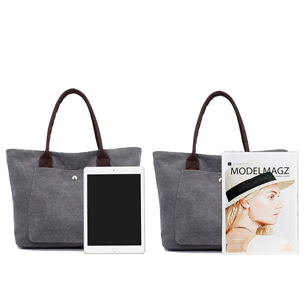 Vintage Simple Wild Tote High Capacity Handbags For Women