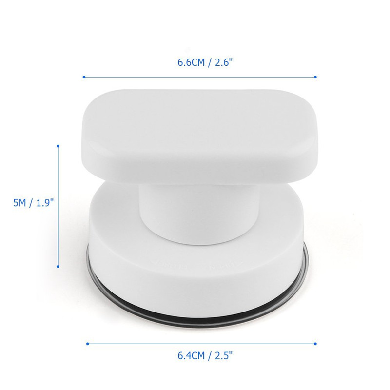 Safety White Bath Door Handles Bathroom Bathtub Anti Slip Powerful Suction Cup Wall Mounted Grab Bar
