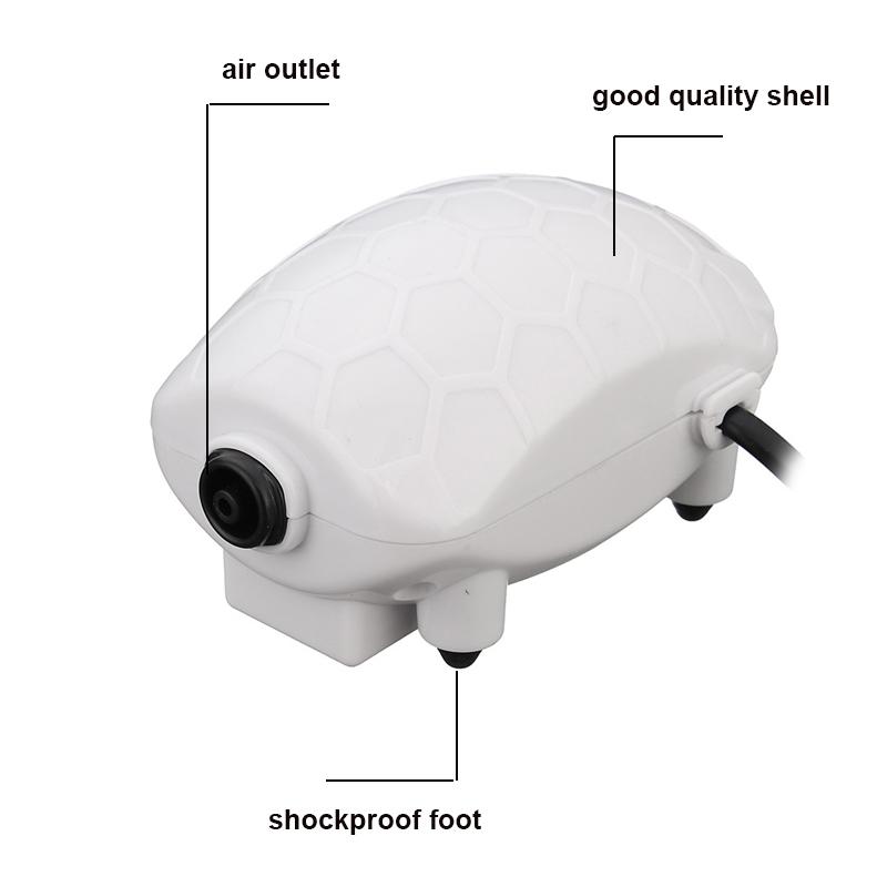 2.5W Aquarium Air Pumps White Fish Tank Increases Oxygen Air Pump