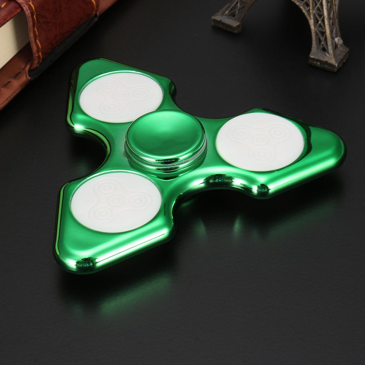 ECUBEE Hand Spinner ABS 3-Pin Green Fidget Spinner Finger Focus Reduce Stress Gadget