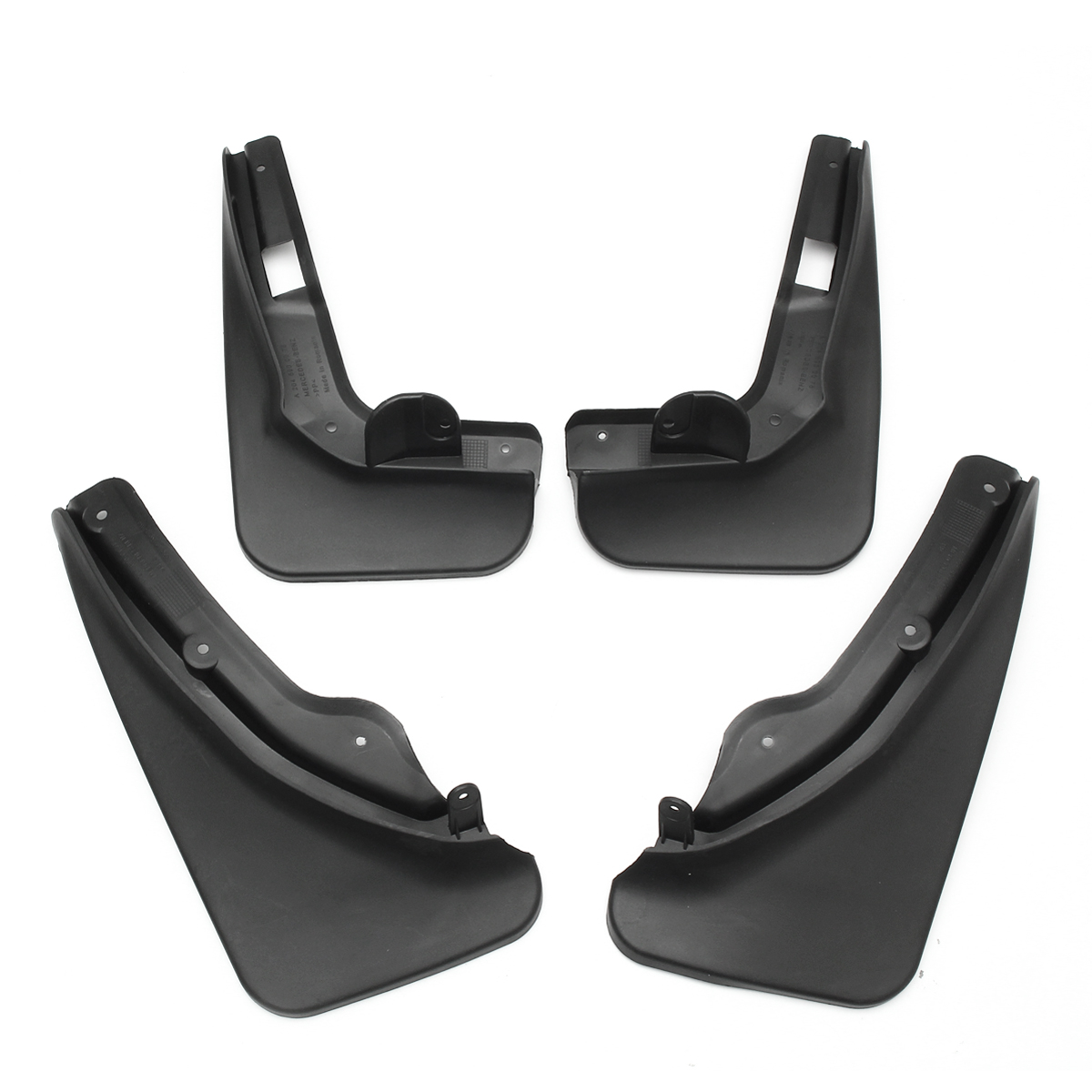 4Pcs Front Rear Car Mudguards For MERCEDES C CLASS W204 2008-2010