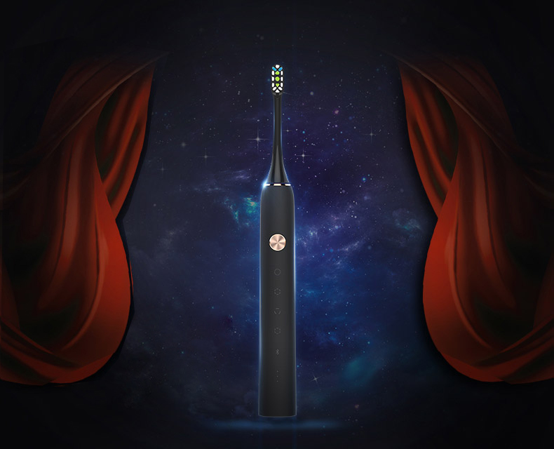 Xiaomi Black Soocare X3 Smart Wireless Electric Toothbrush bluetooth Charge With APP Control