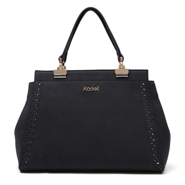Kadell Matte Leather Hollow Out Tote Handbags Shoulder Bags