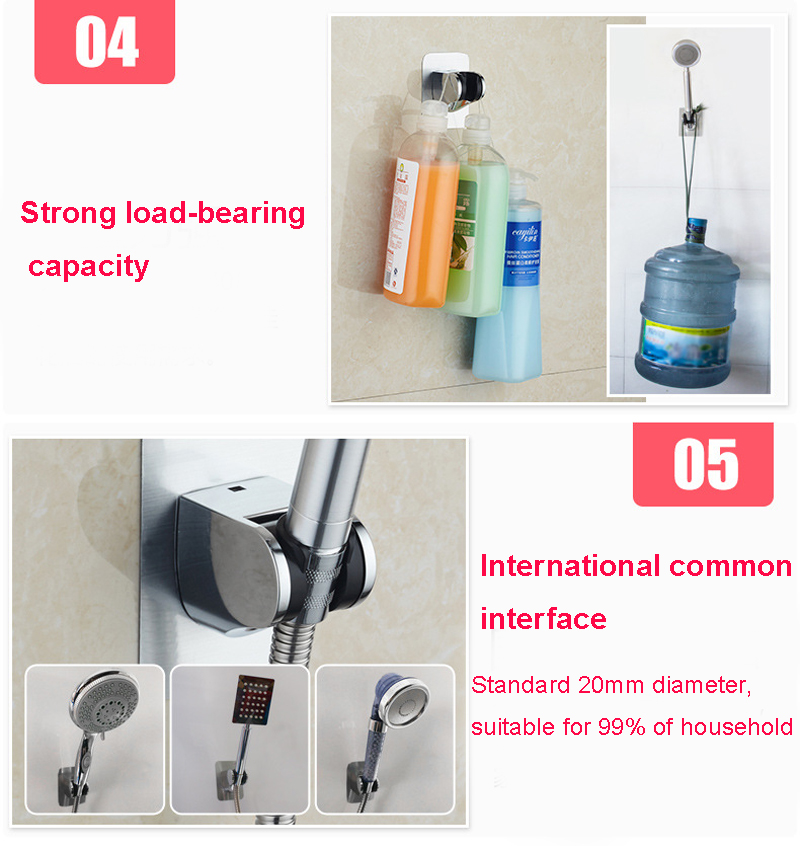 Seven Angle Adjustable Shower Base Strong Viscosity Shower Holder Head Stand Bathroom Accessories