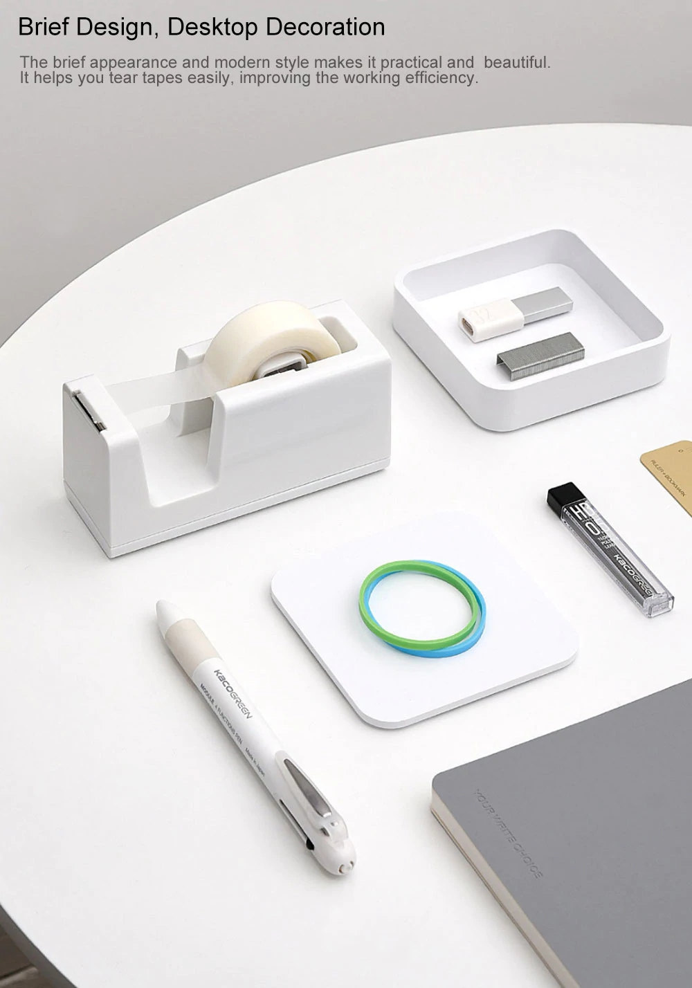 Original xiaomi mijia kaco Lemon Office School Smart Home Kit Staples for Xiaomi Mijia Tape Dispenser Set