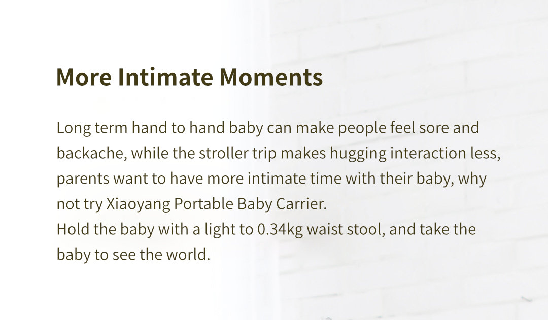 Original Xiaomi Xiaoyang Portable Baby Carriers Hip Seat Ergonomic Spine Protection Bear 3.5-30kg for 0-18 Months Baby